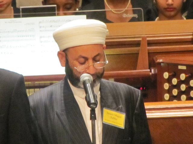 Pictured is Imam Majed Sabke, Islamic Society of Augusta, GA.