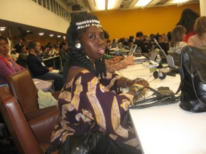 Pictured at the United Nations is Queen Quet Marquetta Goodwine, Chieftess, Spokesperson, and Head-of-State for the Gullah/Geechee Nation