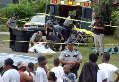 #1 Augusta murder scene pulished on Jan. 22, 2003 in the Augusta newspaper story 'Black slayings lead homicide data' by Greg Rickabaugh