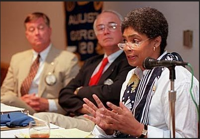 "July 1999 Augusta Chronicle photo of Barbara Thurmond for July 27, 1999 article entitled ""Crime in Black Community"" written by Augusta Chronicle Crime Reporter Meghan Gourley"