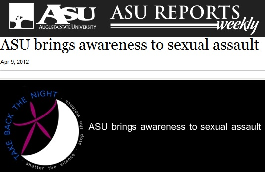 Augusta State University Brings Awareness to 2012 Sexual Assault Month