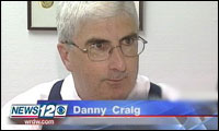 Danny Craig video still by WRDW TV-12 in North Augusta, S.C.