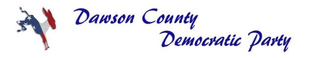 Dawson County Democratic Party Banner