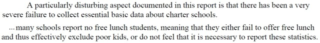 Failure to report segregation, socio-economic and other data by Charter Schools is considered Suspicious by Critics