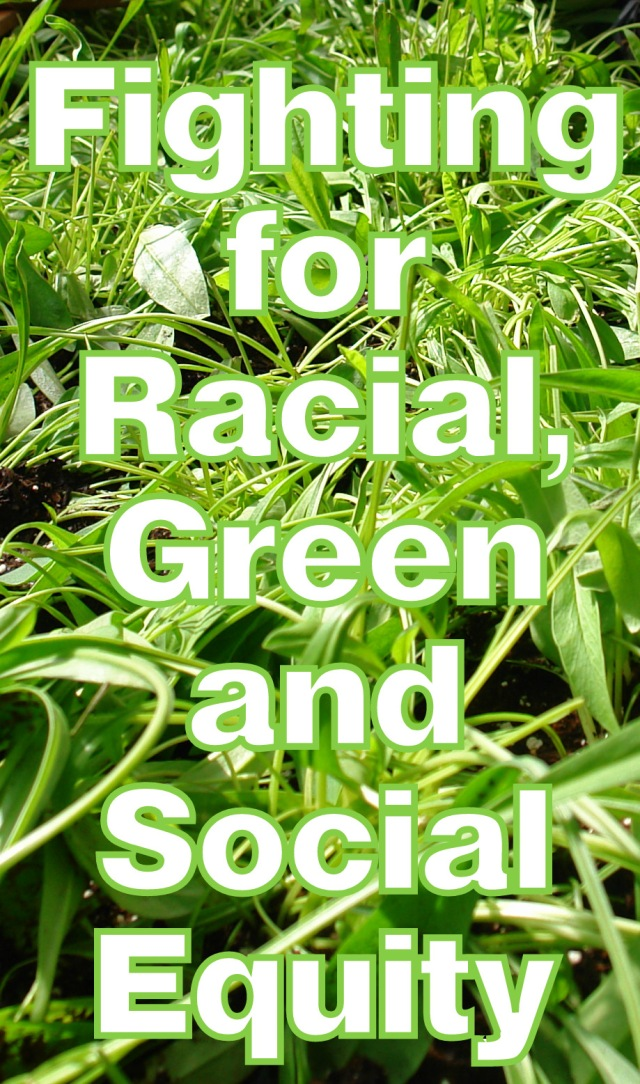 Fight for racial, green and social equity