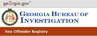 GBI Georgia Sex Offender Registry banner