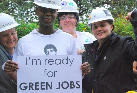 Oregon Tradeswomen partnered in the Clean Energy Works initiative in Portland, Oregon - Pix courtesy Green For All