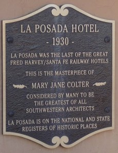 The PDA Team stayed at the gorgeous La Posada in Winslow, Arizona Feb 2012  Photo by Michael Eisenscher from U.S. Labor Against the War.