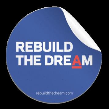 Rebuild The Dream free sticker