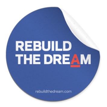 Rebuild The Dream free sticker
