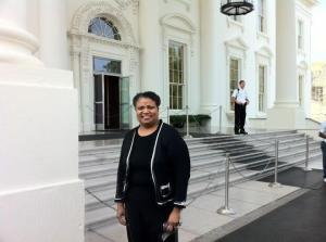 #1 Rev. Dr. Diane B. Evans at the White House, Chapter Leader Progressive Democrats of CSRA (Tri-Counties)