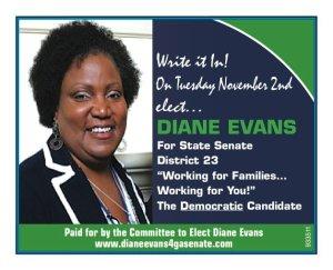 Rev. Dr. Diane Brack Evans Candidate Card