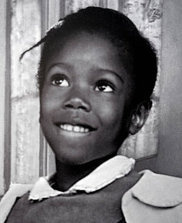 Photograph of six-year-old Ruby Bridges Circa 1960