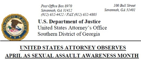U.S. Attorney Southern District of Georgia Observes Sexual Assault Awareness Month April 2012