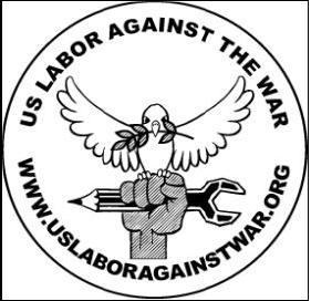 U.S. Labor Against the War logo