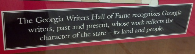 Georgia Writers Hall of Fame (1)
